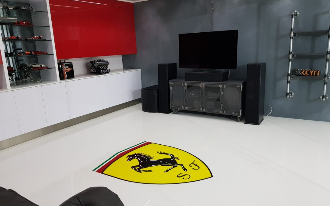 Custom Ferrari Garage & Man Cave